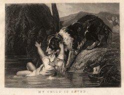 KPM 238 – Das gerettete Kind, Motiv als Stahlstich, D2338-7