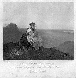 William French (1815-1898), Bairisches Alpen Mädchen, Stahlstich nach C. Ralür, D2393-3