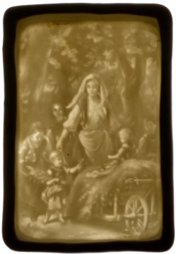 Zündhholzdose aus Porzellan mit Lithophanie, D2404