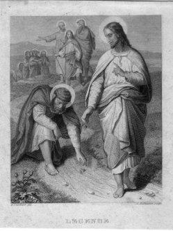 August Hoffmann (1810-1872), Legende, Stahlstich nach W. Kaulbach, D2421-13
