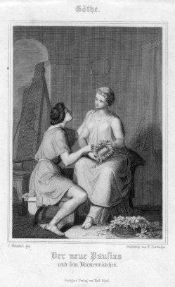 Ernst Dertinger (1816-1865), Der neue Pausias, Stahlstich nach C. Wohnlich, D2421-15
