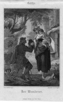 H. Gugeler, Der Wanderer, Stahlstich zu F. Rothbart, D2421-17