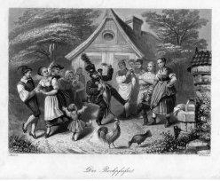William French (1815-1898), Der Bockpfeifer, Stahlstich nach J. Wild, D2435