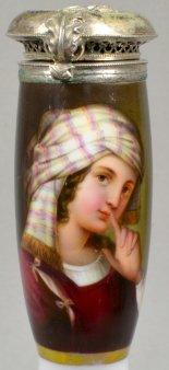 Domenichino (1581 – 1641), Circassierinn, Porzellanmalerei, Pfeifenkopf, D1648