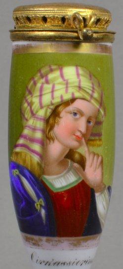 Domenichino (1581 – 1641), Circassierinn, Porzellanmalerei, Pfeifenkopf, D1772