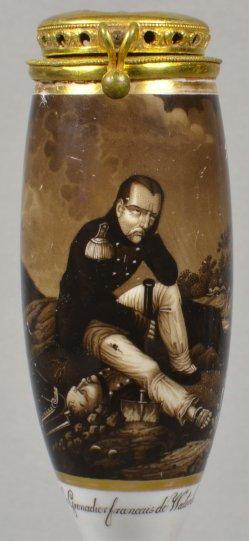Horace Vernet (1789-1863), Klagender Grenadier, Porzellanmalerei, Pfeifenkopf, D1776