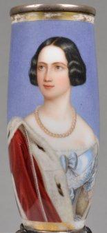 Joseph Karl Stieler (1781-1858), Marie von Preußen, Porzellanmalerei, Pfeifenkopf, D1779
