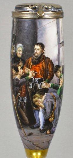 Franz von Defregger (1835-1921), Hofers letzter Gang, Porzellanmalerei, Pfeifenkopf, D1816