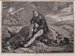 Klagender Grenadier, nach H. Vernet, Kupferstich vor 1825, D1859