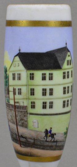 Marburg – Detailansicht 1839, Porzellanmalerei, Pfeifenkopf, D1870