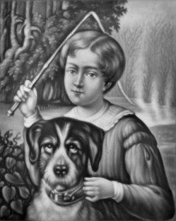 HPM 289 - Kind mit Hund und Peitsche