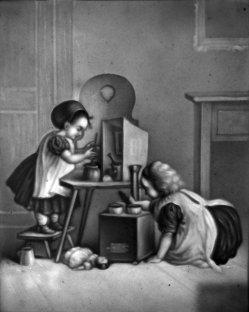 HPM 343 - Kinder mit Puppengeschirr