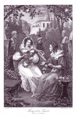 Friedrich Fleischmann (1791-1834), Kupferstich, Torguato Tasso, A0022