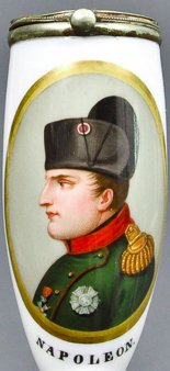 Heinrich Anton Dähling (1773-1850), Napoleon I., Porzellanmalerei, Pfeifenkopf, B0005