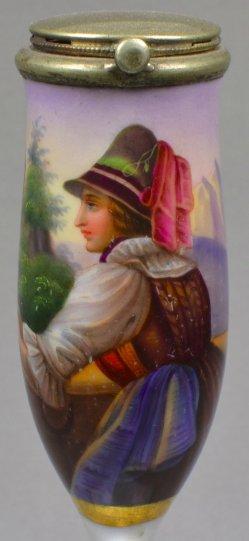 Eduard Freudenberg (1805 – 1855), Margaretha, Porzellanmalerei, Pfeifenkopf, D1084