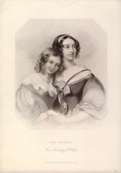 """Albert Henry Payne (1812-1902), Stahlstich, """"The Sisters"""", nach Wright, D1224"""