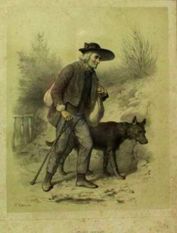Francois Grenier, (1793-1867), Studes variées Nr. 4, Farblithographie, D1354