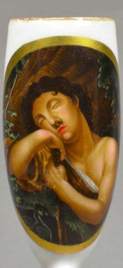 Schlafender Endymion, Porzellanmalerei, Pfeifenkopf, D1528