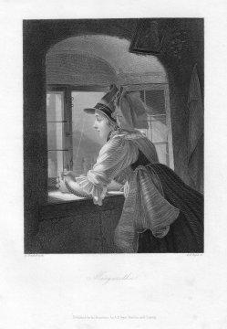 Albert Henry Payne (1812-1902), Margaretha, Stahlstich nach Freudenberg, D1589