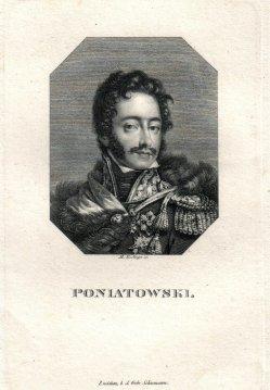 Johann Martin Esslinger (1793-1841), Poniatowski, Kupferstich, D1766