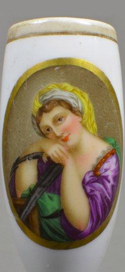 Mit offenen Augen träumen, Porzellanmalerei, Pfeifenkopf, D1878