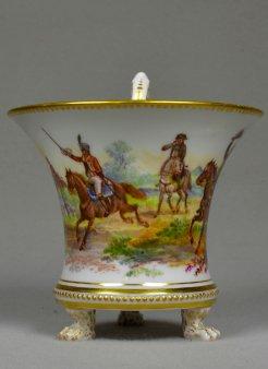 Szenen aus dem Befreiungskrieg, Porzellanmalerei, Tasse, D1880a