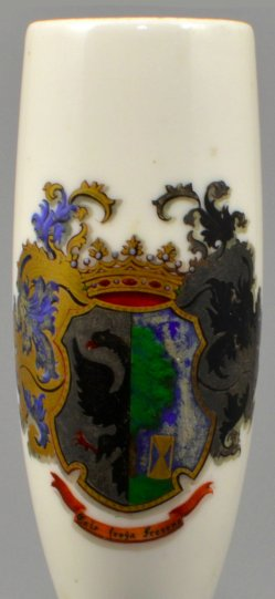 Friesisches Wappen, Porzellanmalerei, Pfeifenkopf, D1080