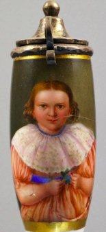 Kind mit Spitzenkragen, Porzellanmalerei, Pfeifenkopf, D1245