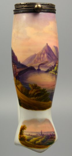 Nonnenwerth, Rolandseck und Drachenfels, Porzellanmalerei, Pfeifenkopf, D1250