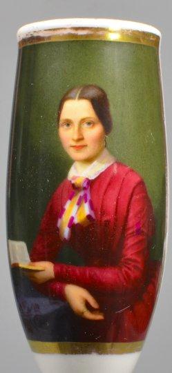 Die Lesepause, Porzellanmalerei, Pfeifenkopf, D1498