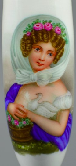 Carl Joseph Alois Agricola (1779-1852), Die Jugend, Porzellanmalerei, Pfeifenkopf, D1763