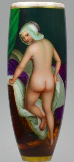 """Jacob Van Loo (1614-1670)""""Young Lady going to bed"""", Porzellanmalerei, Pfeifenkopf nach Van Loo, D1914D1914-0"""