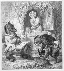 Julius Schnorr, Zeichnung, Reinecke Fuchs, Gesang 1, nach W. v. Kaulbach, D2104-3