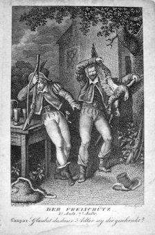 Fr.Wilh.Meyer, Kupferstich, Der Freischütz, nach Ramberg, D1748