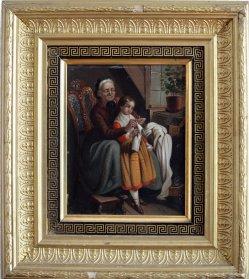1759 Die Großmutter mit Rahmen