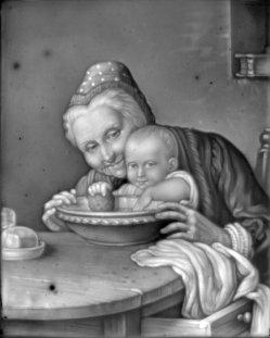 HPM 310 - Grossmutter und Enkel, nach Meyer von Bremen