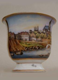 Penig, Porzellanmalerei, Ansichtentasse, D1006