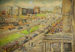 Karl Friedrich (1898-1989), Magdeburg 1957, Wilhelm-Pieck-Allee, D1103