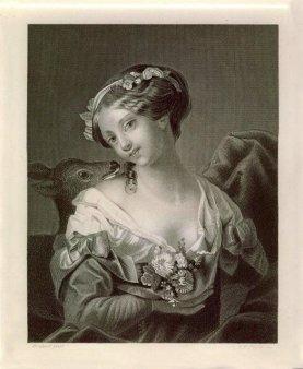 Albert Henry Payne (1812-1902), Das Reh, Stahlstich nach Brochart, D1397