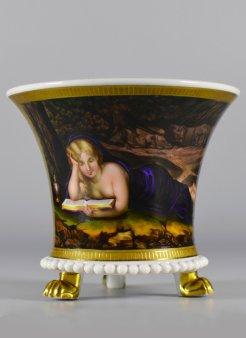 Antonio da Correggio (1489-1534), Maria Magdalena, Porzellanmalerei, Tasse, D1954