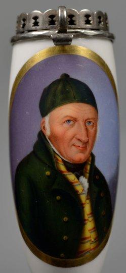 Halbportrait Johann Gottfried Schadow, Porzellanmalerei, Pfeifenkopf , D1957