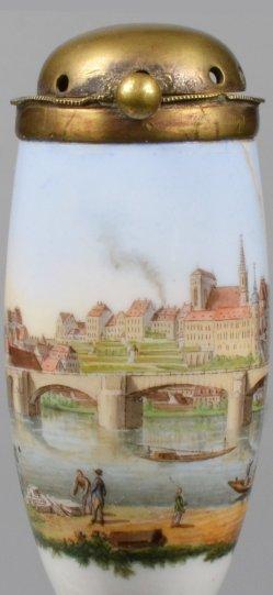 Ansicht von Meißen, Porzellanpfeifenkopf Meißen, D1998-0