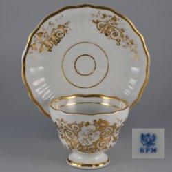Buckauer Porzellanmanufaktur, Tasse und Untertasse um 1845, D0352-001-0