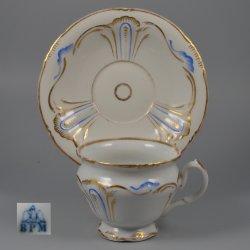 Buckauer Porzellanmanufaktur, Tasse und Untertasse um 1850, D1130-291-36