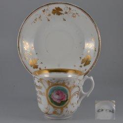 Buckauer Porzellanmanufaktur, Tasse und Untertasse um 1882, D0543-002-3