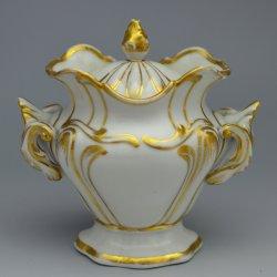 Buckauer Porzellanmanufaktur, Zuckerdose um 1850, D0654-140-02