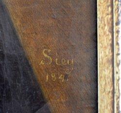 Carl Sieg (1784-1845) Herren-Halbportrait 1841,Signatur, D1668