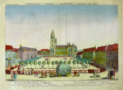 Johann Christian Nabholz (1752 - 1797), Magdeburg Domplatz um 1770, D0881
