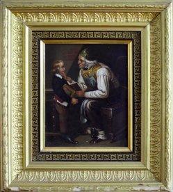 1760 Großvater mit Rahmen