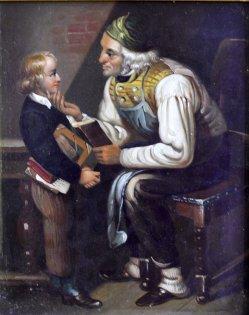 "Gemälde ""Der Großvater"" nach Friedrich Eduard Meyerheim (1808-1879), D1760"